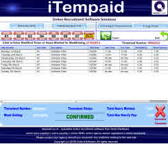 iTempaid online recruitment software - online timesheets